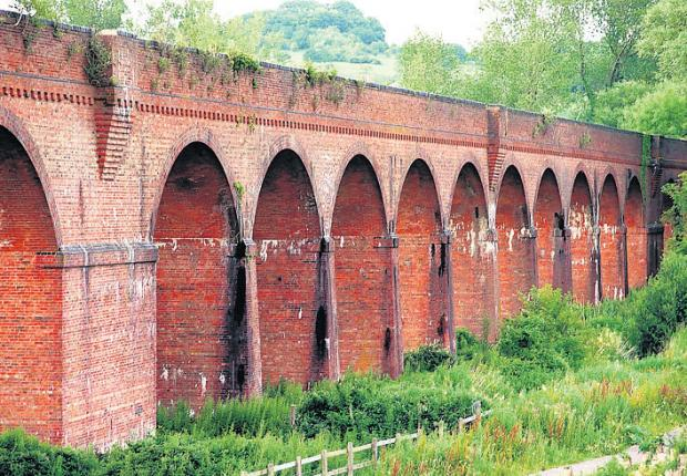 Hockley Viaduct: next to car-sharing lay-by