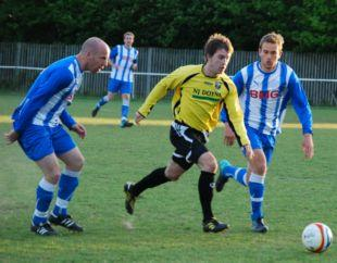 Action from Thatcham v Tadley Calleva (yellow).