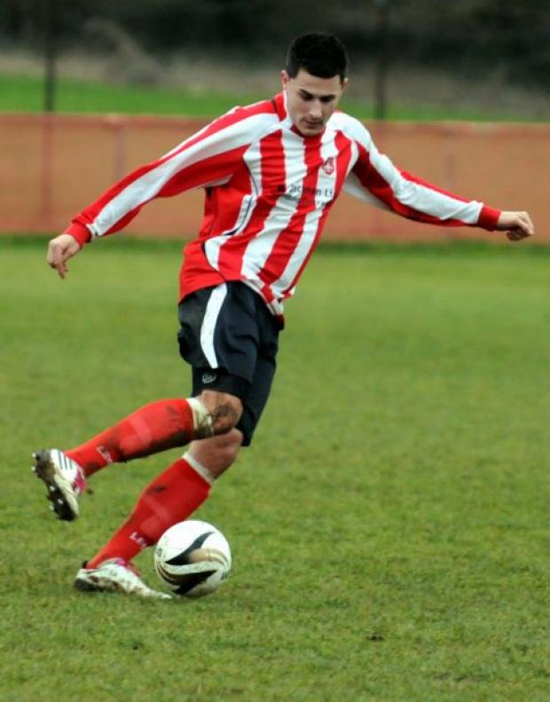 Paul Coventry scored for Whitchurch in the FA Vase.