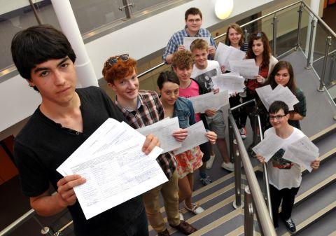 Student George Severs, 17, Mark Nickell, 17, Olivia Slowey, 17, Laurie Wooldridge, 16, Jack Spencer, 16, Chris Wall, 17, Natalie Rowell, 16, Emma Swanson, 17, Janis Ellis, 18, and Declan Langron, 17