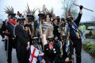 Hook Eagle Morris Men danced from pub to pub to celebrate St George's Day
