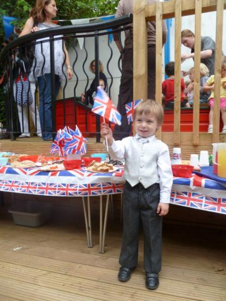 Children from JJ's Chatterbox Nursery dressed up for the Jubilee celebrations