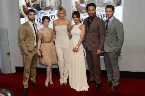 The cast - including Cheryl Cole - at the London premiere