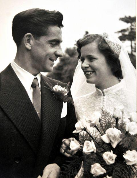 Sheila and Cyril Knight on their wedding day
