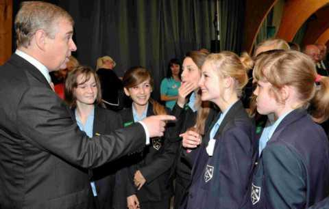 The Duke of York chatting to Bishop Challoner
