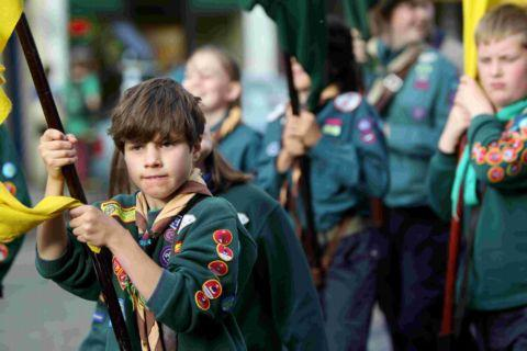 Scouts parade through Winchester in June
