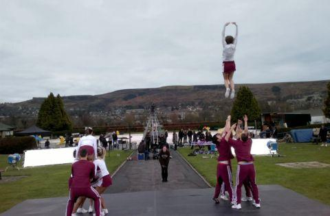 Cheerleaders are TV advert stars