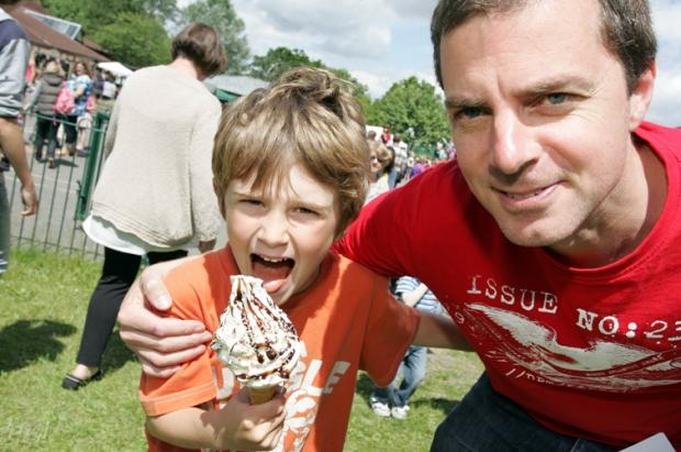 Jack Randall, 7, with his dad Chris