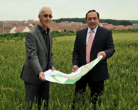 Cllr David Potter (left) representing Popley East and planning consultant Edward Dawson, representing Sherborne St John residents