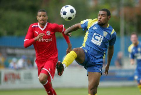 Jordace Holder-Spooner announced his arrival at the Camrose with three goals in Town's win over Reading XI.