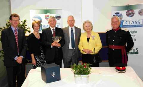 The Lord Lieutenant of Hampshire Dame Mary Fagan presented Cirrus Logistics with its Queen's Award. Picture by Ian Wakelin.