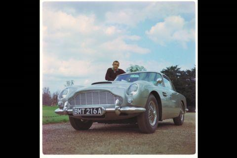 Sean Connery with the Aston Martin DB5