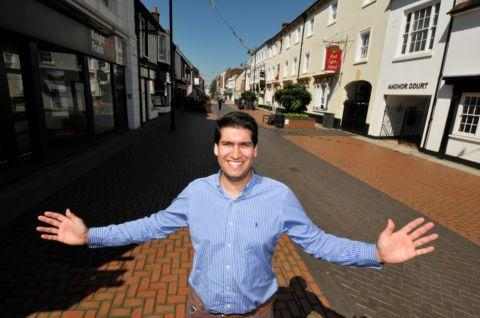Councillor Ranil Jayawardena at The Top of The Town
