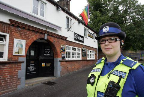 PCSO Rebecca Quirk who has set up a lesbian, gay, bisexual and transgender (LGBT) beat surgery in Poison bar