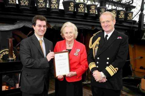 Colin Davison with The Lord Lieutenant of Hampshire Dame Mary Fagan