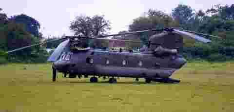 The Chinook was forced to land in South Wonston