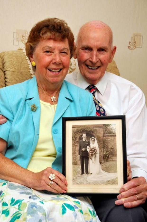 Phyllis and Sid King celebrating their diamond wedding anniversary
