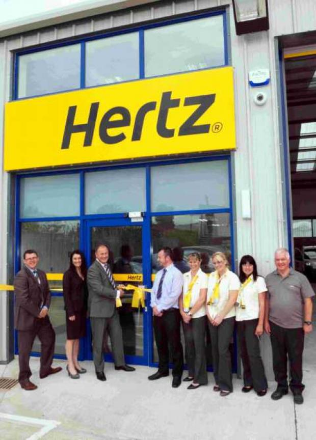 The opening of the Hertz Basingstoke Van Supersite