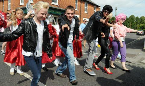 Whitchurch Youth project dressed as Grease