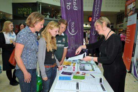 BCoT tourism lecturer Kat Taylor with potential BCoT students Hollie Bergin, her brother Peter Bergin and mum Nicky Trowers
