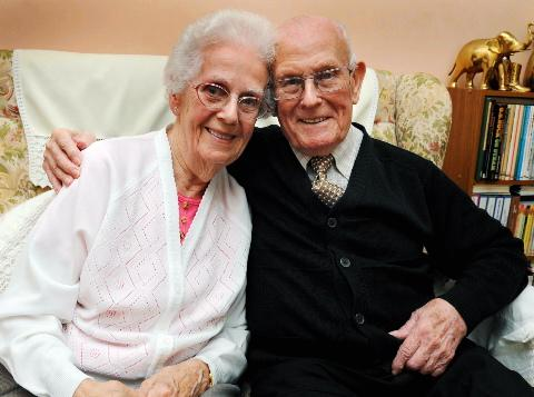 Couple on right track for 65 years