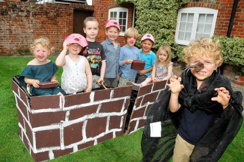 From left: Four-year-olds Isabel Gardner, Abigail MacDonald, Sean McDonald, Charlie McKenzie, Alexander Richards, Django George, Mathilda Duckworth, and Jude Kelliher