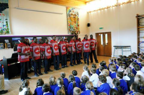 Choir from Swaziland visits Silchester school