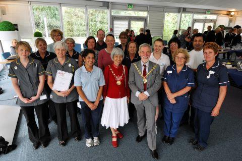 The Basingstoke WOW! Award winners with Mayor of Basingstoke and Deane Cllr Martin Biermann and Mayoress Chansopha Biermann