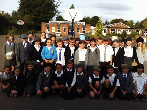 Pupils experience life as an evacuee