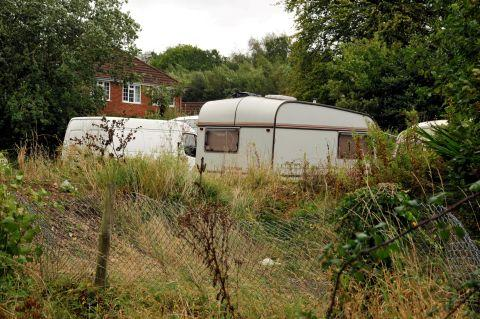 Travellers set up camp at Royal British Legion site in Bramley
