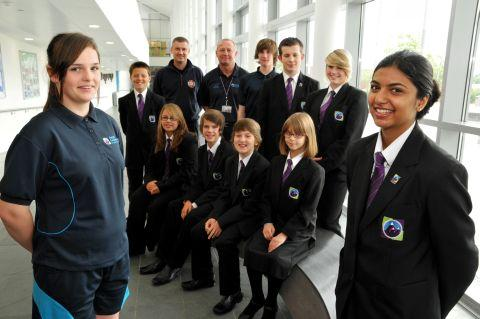 Everest Community Academy students in their new school uniform