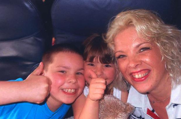 Ben and Freya Pedersen, pictured with mum Erica. 'My angels are in heaven now', she said.