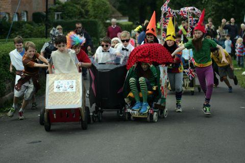 Hundreds turn out for the Hook annual pram race