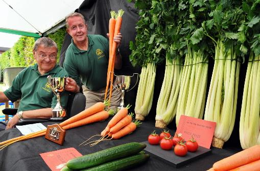 Neighbours' veggies win big at show