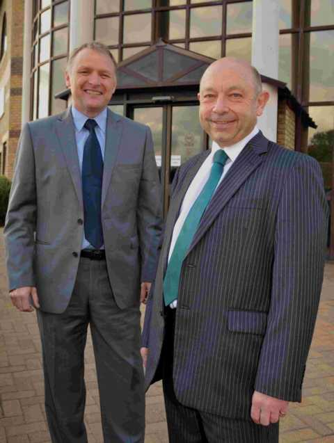 Sentinel's chief executive Martin Nurse (right) with Mark Perry who will be taking over the reigns of the association next year