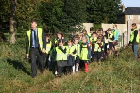 Walking Bus scheme started at St Mary Bourne Primary School