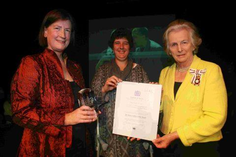 Left to right: Jane Jessop, Polly Troup and Dame Mary Fagan