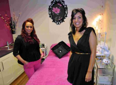 L-R: Dimensions proprietor Chalie Conway, with Karla Jones, of Karla's Beauty Room