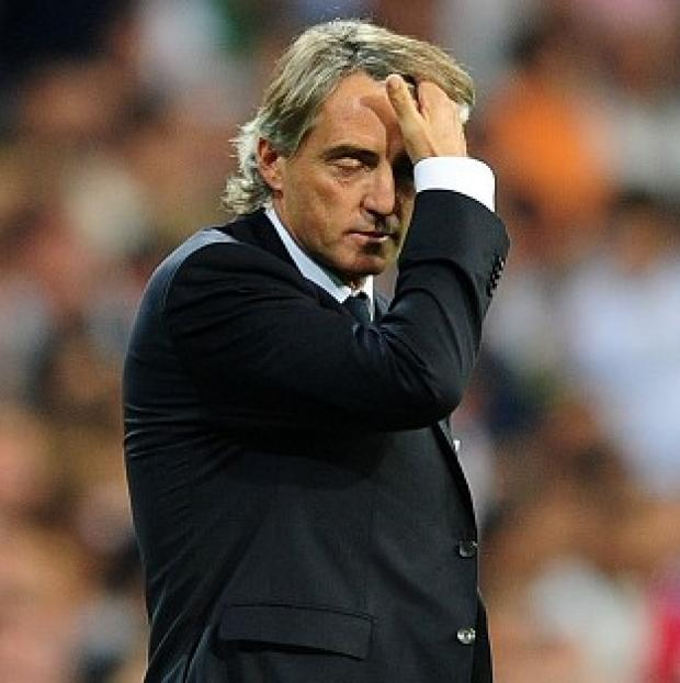 Basingstoke Gazette: Roberto Mancini took responsibility for Manchester City's defeat at Ajax.