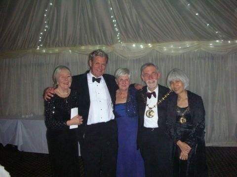 Pauline Williams, Merv Rees, Angela Bennett, borough mayor Cllr Martin Biermann and mayoress Chansopha Biermann