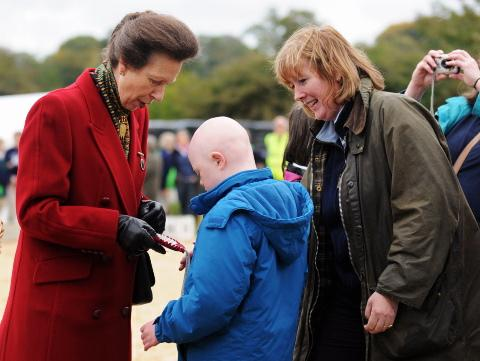 Princess Royal enjoys her visit to Andover