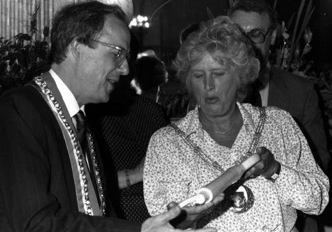 Margaret Weston in 1989 when she was mayor
