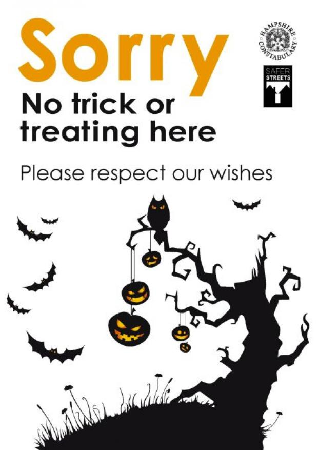 Anti-Hallowe'en poster available to keep trick-or-treaters away