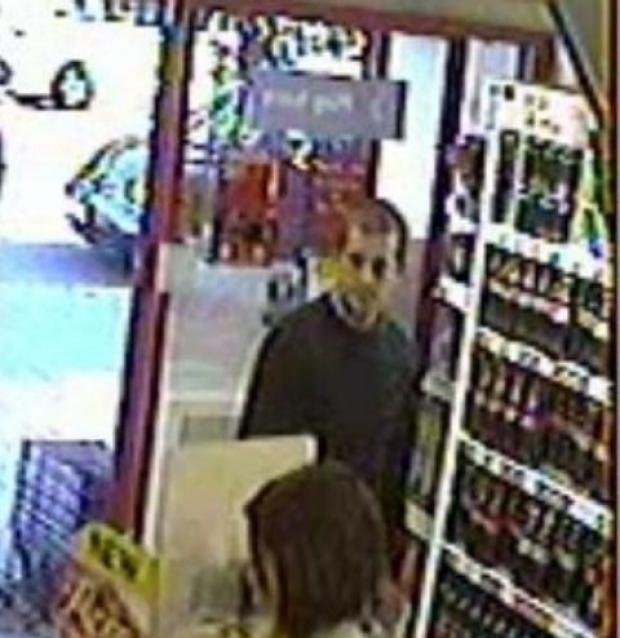 CCTV image of the man police want to speak to in connection with two suspicious incidents