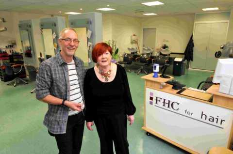 Graham and Marie Kent at FHC's new salon in Houndmills