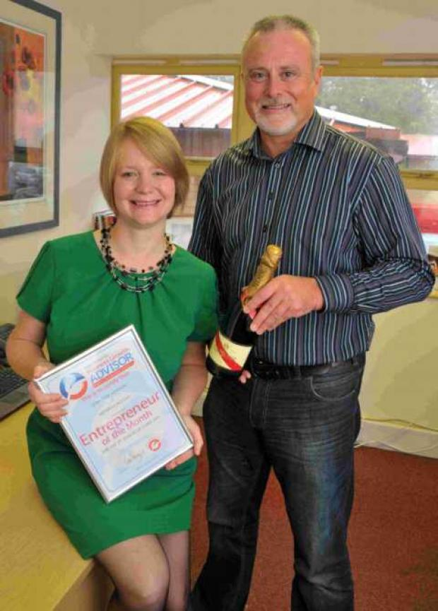 Lorraine Ashover with Business Growth Advisor Tim Savage