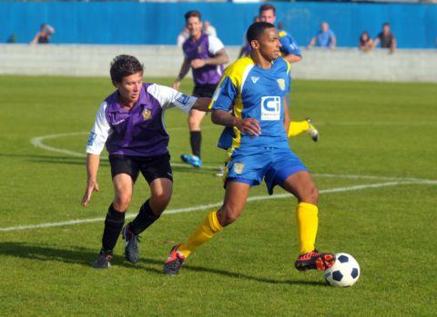 Stefan Brown in action for Basingstoke Town.
