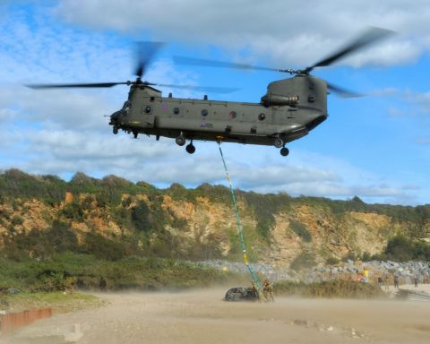 Lift-off for helicopter for helicopter squadron