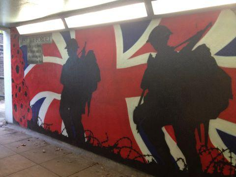 Mural in underpass pays tribute to fallen war heroes