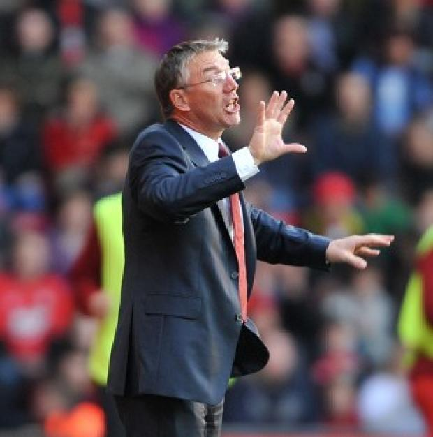 Basingstoke Gazette: Nigel Adkins refused to be downbeat after his team's 1-1 draw with Swansea
